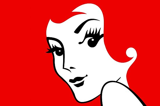 Miss Redhead [iPhone / iPad / iPod case / Tshirt / Print] by Damienne Bingham