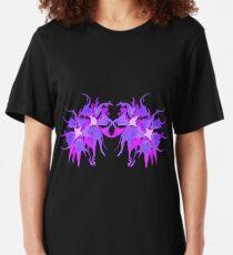 MvS-PurpleFloral Slim Fit T-Shirt