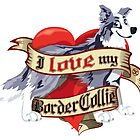 I Love My Border Collie - Blue Merle by DoggyGraphics