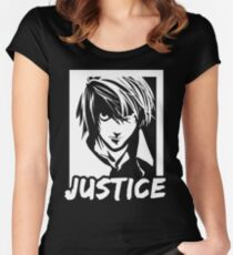 DEATH NOTE JUSTICE Women's Fitted Scoop T-Shirt