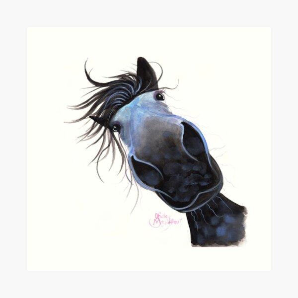 HORSE PRiNT 'APPLE DAPPLE DARWIN' BY SHIRLEY MACARTHUR Art Print