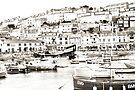 Brixham Harbour in Sepia by missmoneypenny