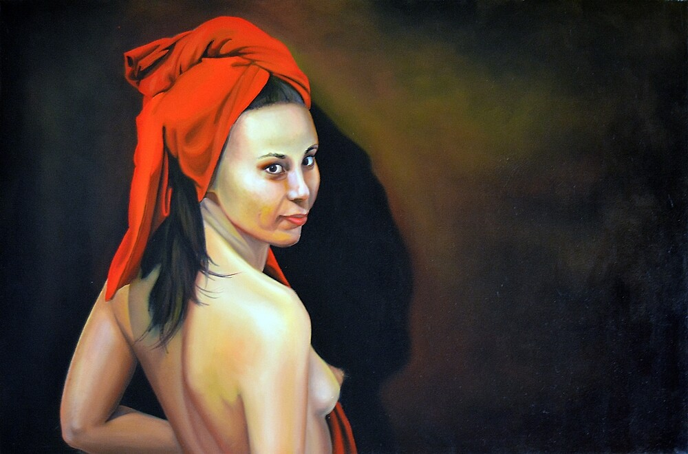 The girl without pearl earrings, 2012, 120-80cm, oil on canvas by oanaunciuleanu