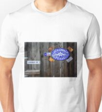 Luckenbach Texas Signs, Tags and Horseshoes Unisex T-Shirt