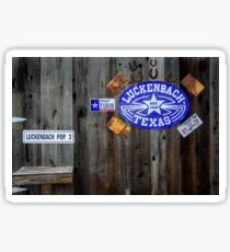 Luckenbach Texas Signs, Tags and Horseshoes Sticker