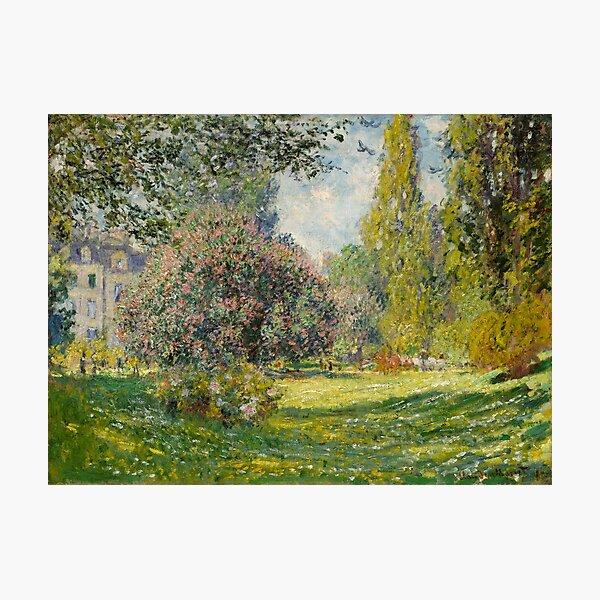 The Parc Monceau - Claude Monet Photographic Print