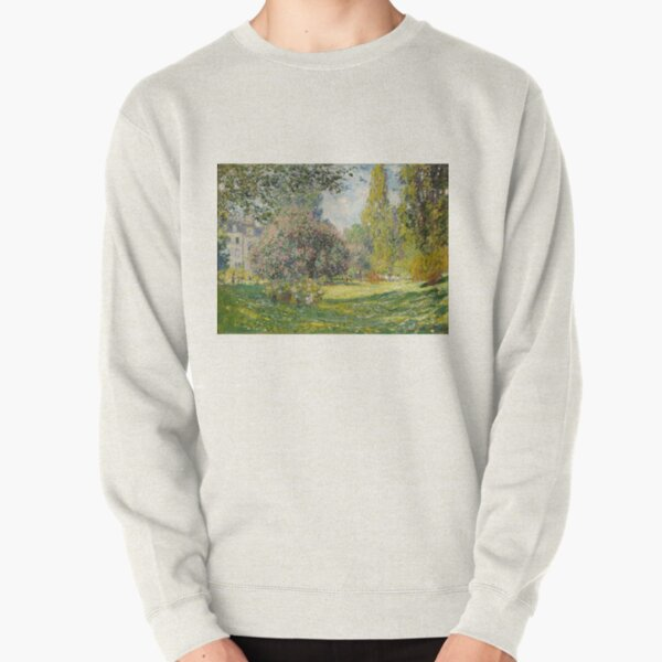 The Parc Monceau - Claude Monet Pullover Sweatshirt
