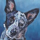 Blue Heeler Australian Cattle Dog Fine Art Painting by lashepard