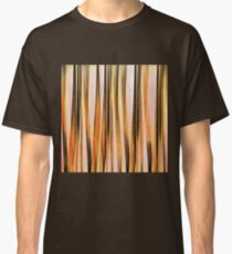 Orange Brown and Peach Autumn Stripy Lines Pattern Classic T-Shirt