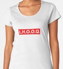 Marcel Duchamp - LHOOQ (Supreme style) Women's Premium T-Shirt