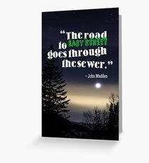 Inspirational Timeless Quotes - John Madden Greeting Card
