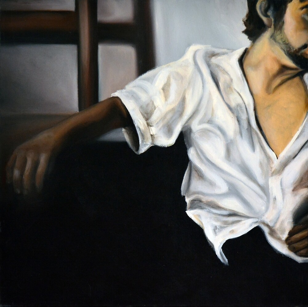 Him, 2012, 50-50cm, oil on canvas by oanaunciuleanu
