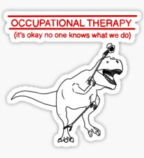 Occupational Therapy (White background) Sticker