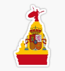 Sevilla, Giralda and the spanish flag Sticker