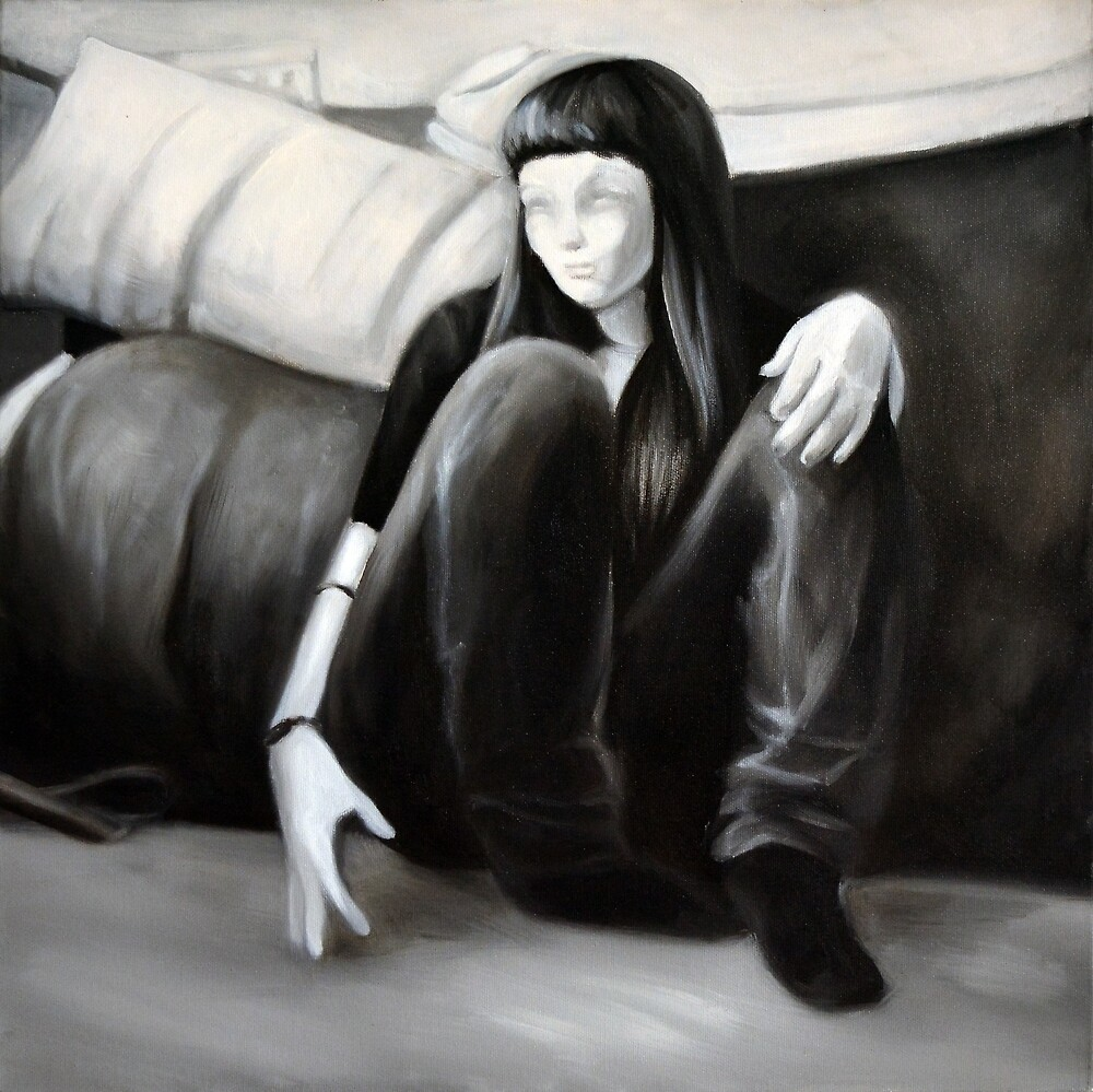 Her, 2012, 50-50cm, oil on canvas by oanaunciuleanu
