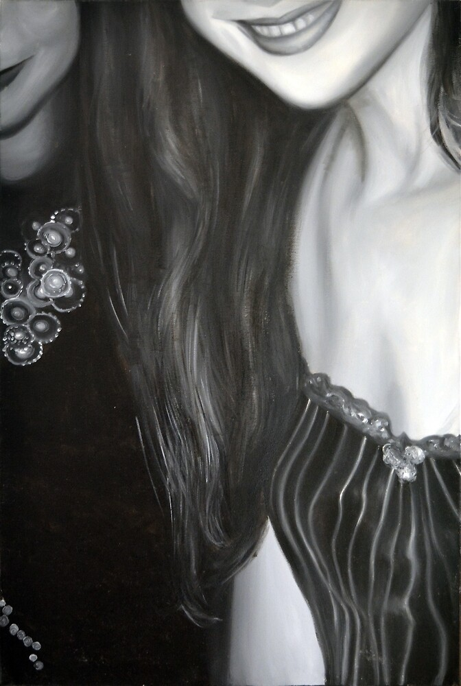 Girls' night out, 2012, 80-53cm, oil on canvas by oanaunciuleanu