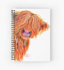 HIGHLAND COW 'PEEKABOO' BY SHIRLEY MACARTHUR Spiral Notebook