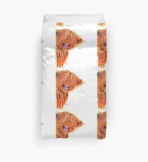 HIGHLAND COW 'PEEKABOO' BY SHIRLEY MACARTHUR Duvet Cover