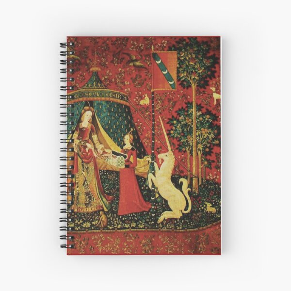 The Lady and the Unicorn Spiral Notebook