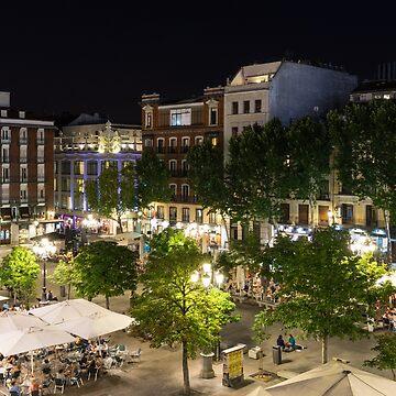 Madrid Nightlife - the Fabulous Plaza de Santa Ana at Night by GeorgiaM
