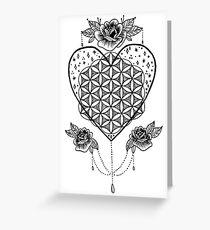 Sempiternal Love Heart Greeting Card