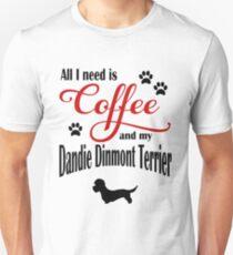 Coffee and my Dandie Dinmont Terrier Unisex T-Shirt