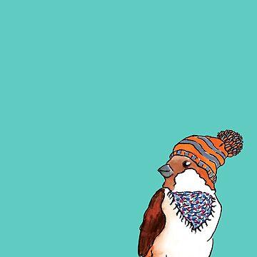 Hipster Bird by Elvedee