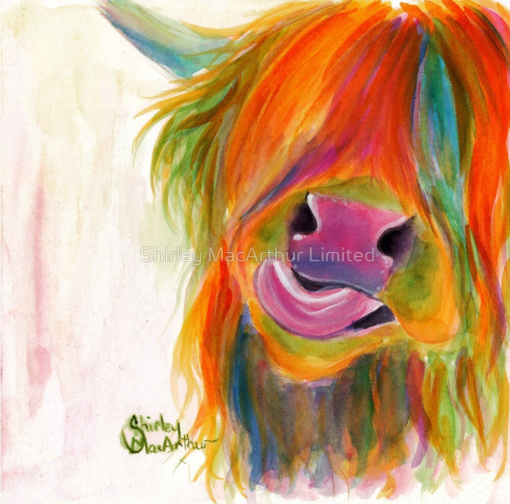 HIGHLAND COW 'JUICY FRUIT JOSIE' BY SHIRLEY MACARTHUR by Shirley MacArthur