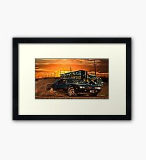 East Bound And Down Framed Print