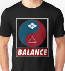 Yin Yang Samurai Balance Unisex T-Shirt