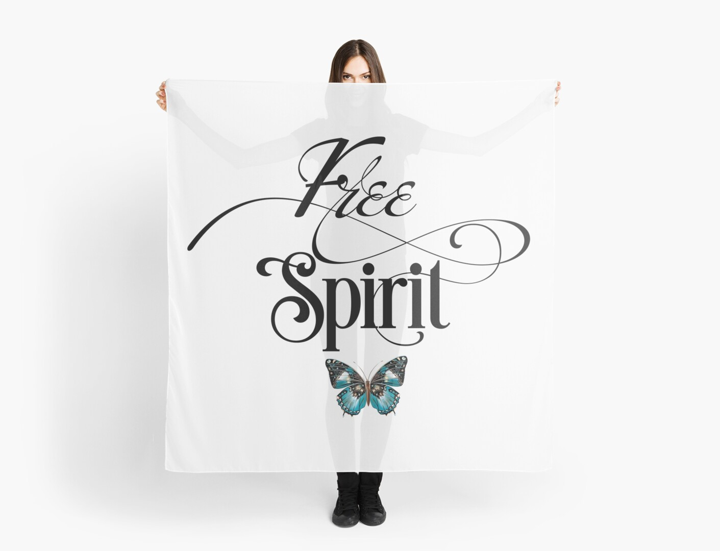 Free Spirit Butterfly Motivational Cute Sweet Girly Typography