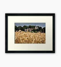 The wheat field Framed Print