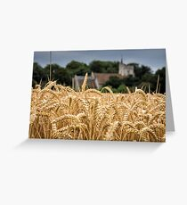 The wheat field Greeting Card