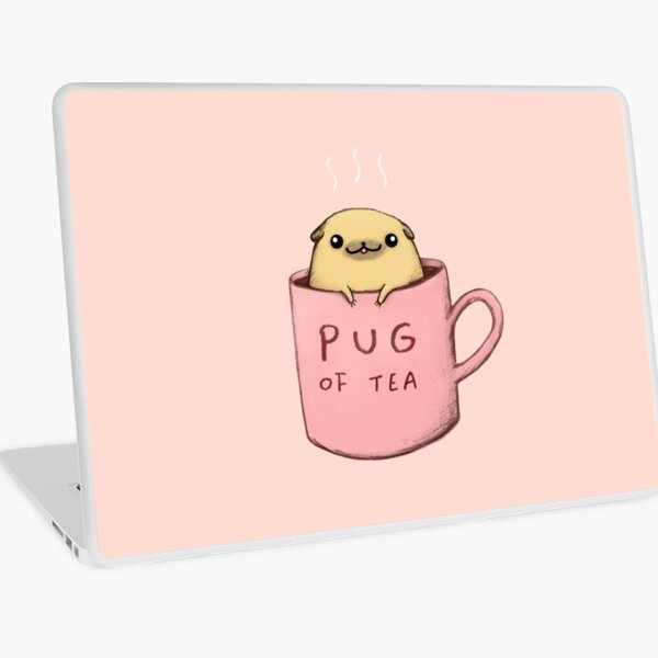 Pug of Tea Laptop Skin