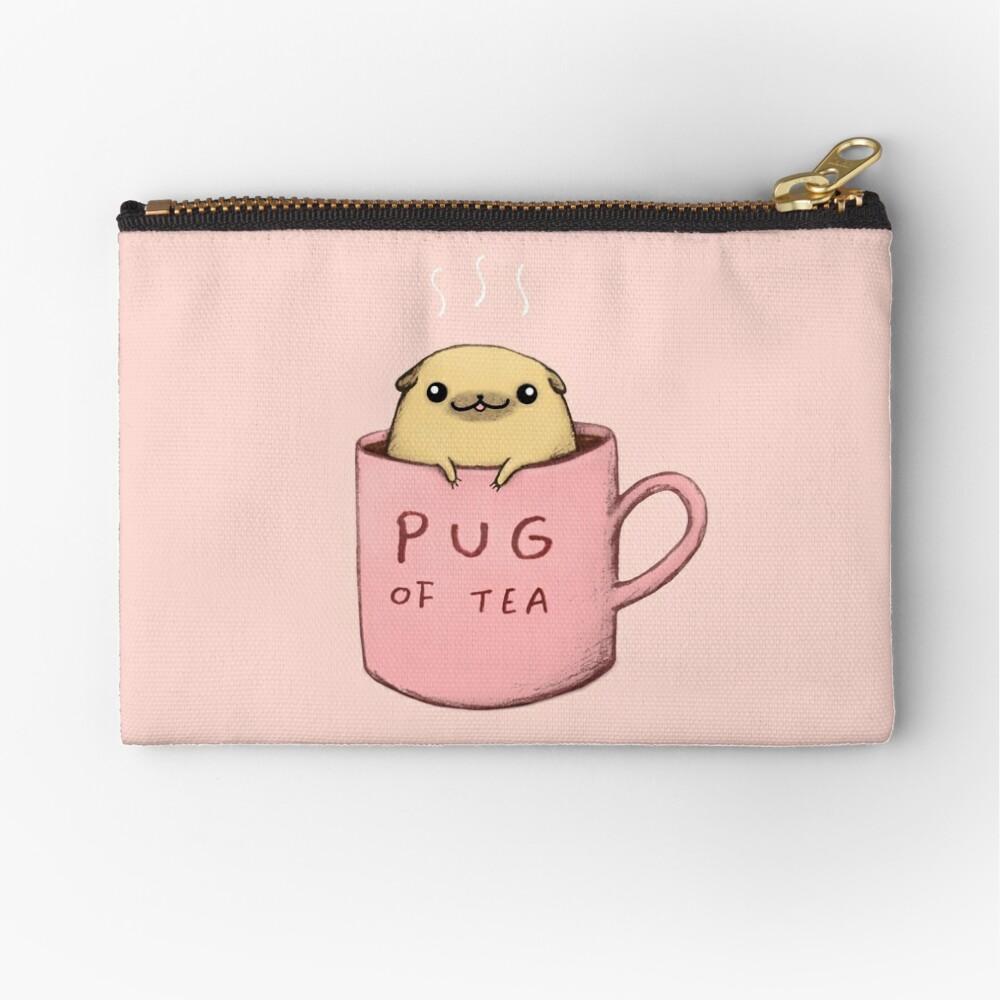 Pug of Tea Zipper Pouch