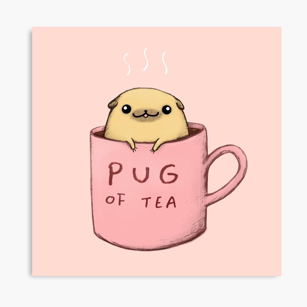 Pug of Tea Canvas Print
