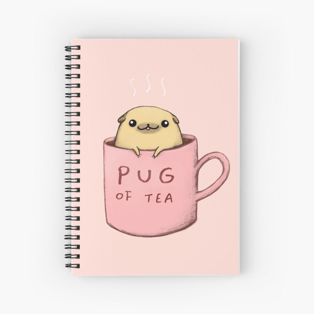 Pug of Tea Spiral Notebook