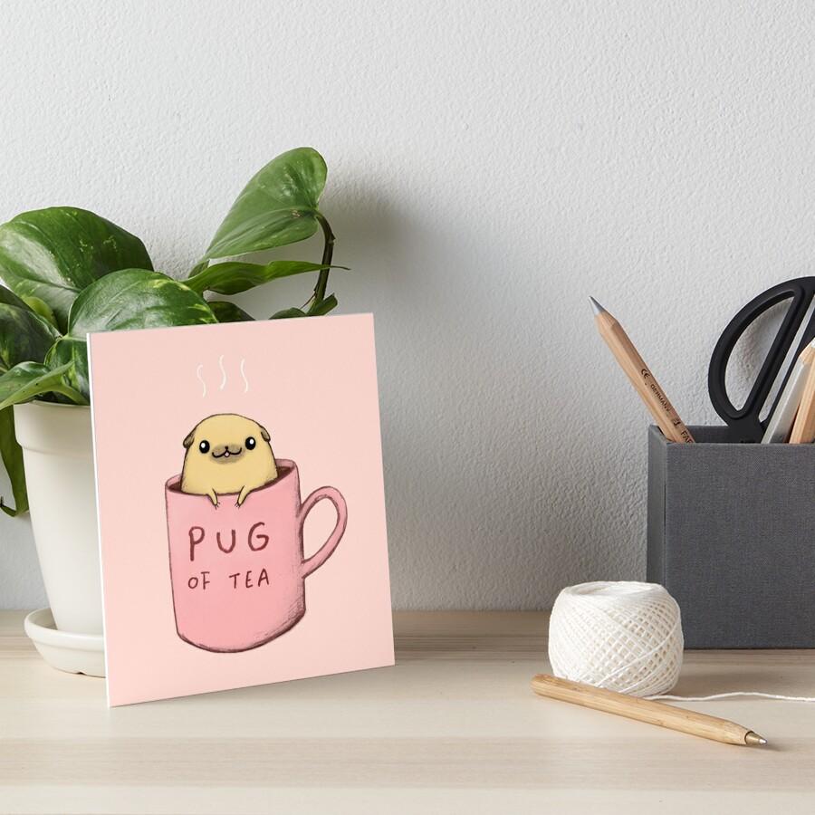 Pug of Tea Art Board Print