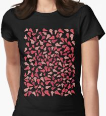Wiggly Red Germs Womens Fitted T-Shirt