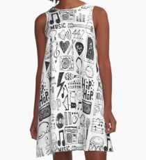 Music Doodles A-Line Dress