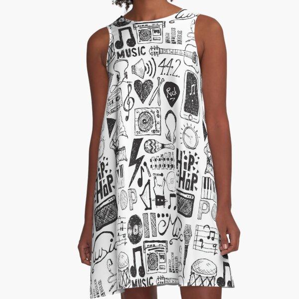 Music Doodles A-Line Dress