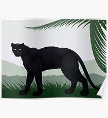 Black Jungle Panther Poster