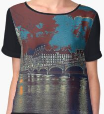 London Skyline Chiffon Top