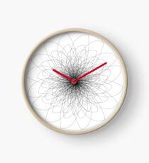 Black & White Flower Ten Clock