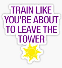 Tangled Tower Work Out Sticker
