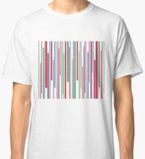 Colorful funny stripes pattern Classic T-Shirt