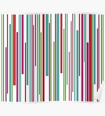 Colorful funny stripes pattern Poster
