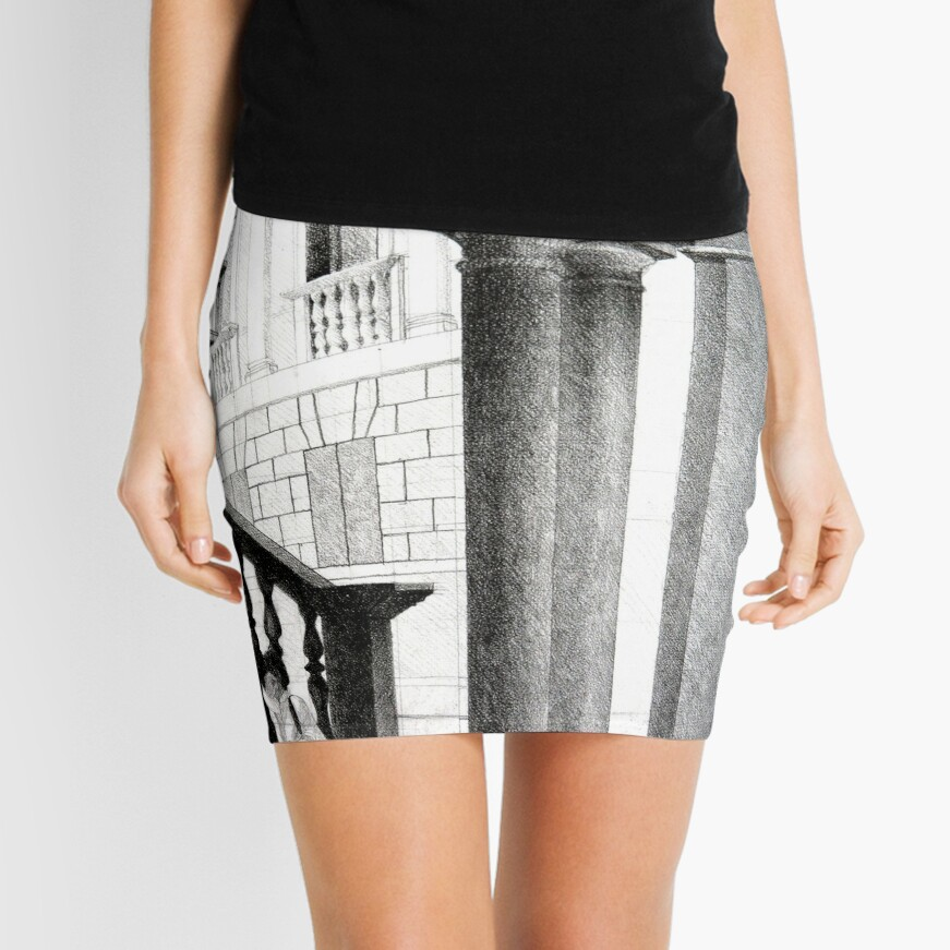 Vicenza, 2011, 50-70cm, graphite crayon on paper Mini Skirt Front