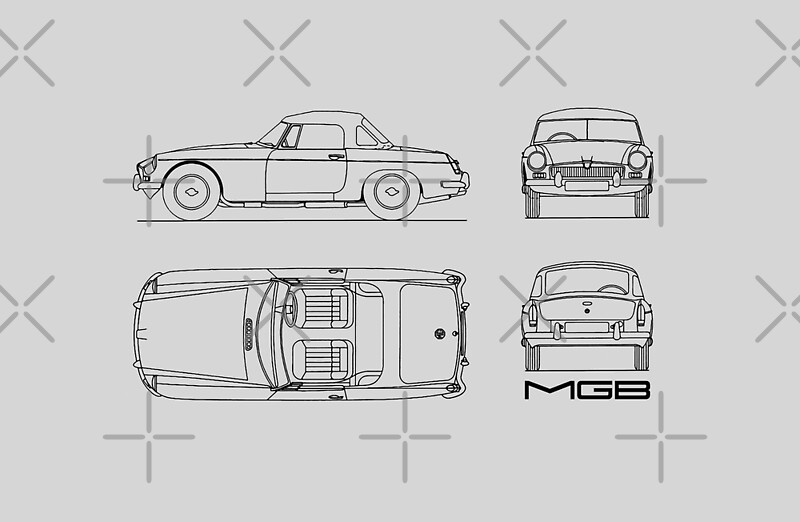 Vinilos para porttiles mgb blueprint de rogue design redbubble mgb blueprint de rogue design malvernweather Image collections