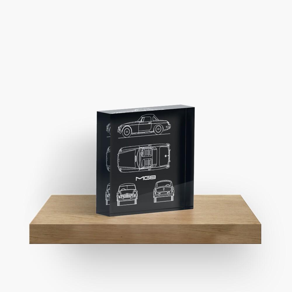 The MGB Blueprint Acrylic Block